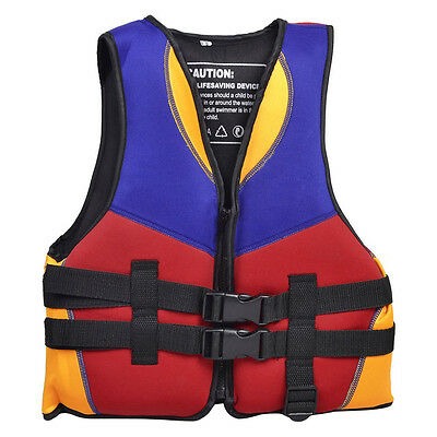 07S8 Red Blue Orange Water Sports Swimming Life Jacket Vest Size S for Children
