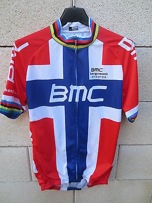 Maillot cycliste BMC Racing Team Thor HUSHOVD cycling shirt sykling jersey M