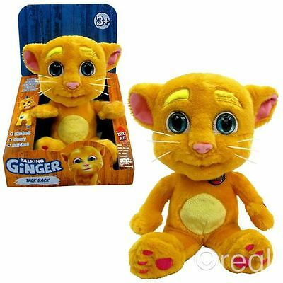 New Talk Back Ginger Talking Friends Soft Plush Toy Official