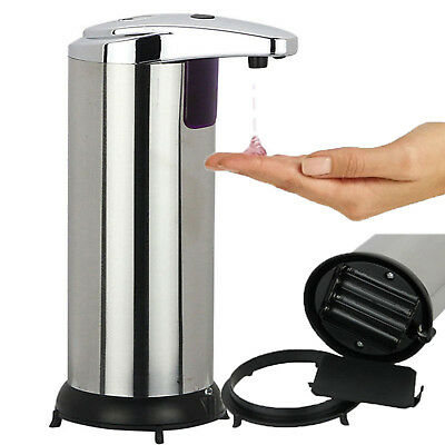 400ML Stainless Steel Hand Automatic Touchless Bathroom Kitchen Soap Dispenser