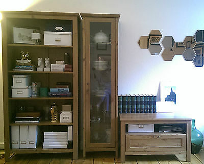 set ikea grevb ck wohnzimmer diele holzm bel regal vitrine tv bank eur 100 00 picclick de. Black Bedroom Furniture Sets. Home Design Ideas