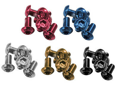 Clarks Anodized Rotor Bolts 12 Pack Gold, Blue, Red, Black, Green
