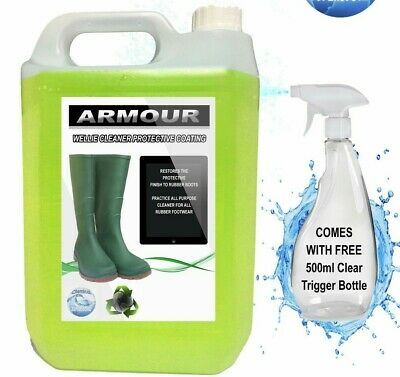 ARMOUR Rubber Boot Cleaner 5L + FREE BOTTLE 500ml Wellies, Wellington, Footwear