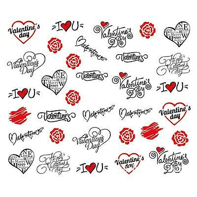 50pcs Nail Art Transfer Stickers 3D Design Manicure Tips Decal Decoration Tool