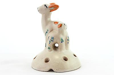 An Art Deco pottery deer and fawn. 1920's -1940's. Austrian style. Earthenware