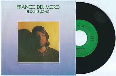"7"" FRANCO DEL MORO Elisan's song (private 84) Italo space disco electro synth M!"