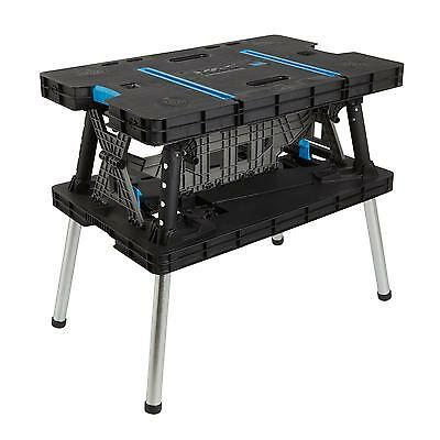 Strong Work Bench Garage DIY Table Foldable Heavy Duty Workbench Portable Stand