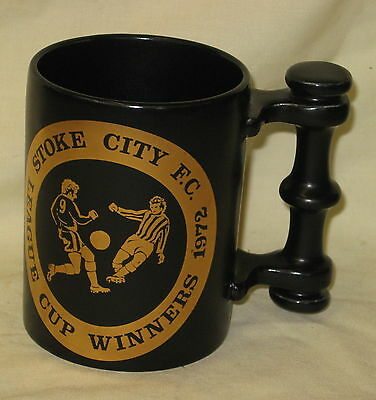 MINT Portmeirion Stoke City FC 1972 League Cup Winners Black & Gold Tankard