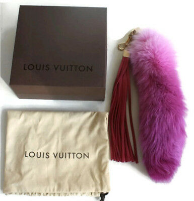 RARE limited edition LOUIS VUITTON Rose FOXY fox tail bag charm LE