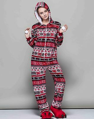 Ugly Cute Christmas Sweater Onesi1 Pajama RED WINTER PATTERN! US Stock! SoCal!