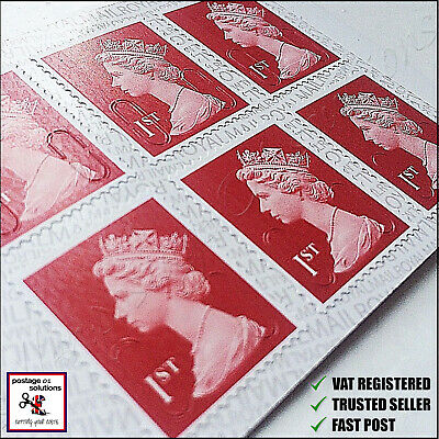 BRAND NEW 1st Class Stamps x120 SAVE Self-Adhesive UK Postage First Satisfaction