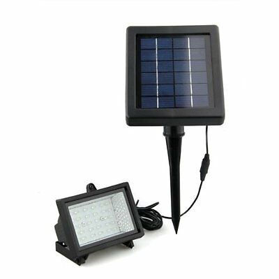 07S8 Waterproof Outdoor Solar Power White 30 LED Flood Garden Light Lamp