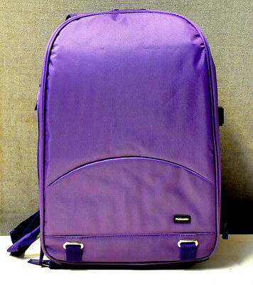 Waterproof DSLR Camera Lens Backpack Case Bag for Canon for Nikon Sony Purple