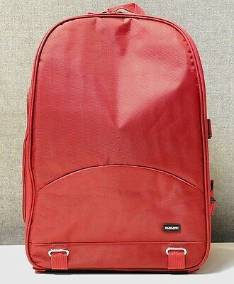 Waterproof DSLR Camera Lens Backpack Case Bag for Canon for Nikon  Sony Dark Red