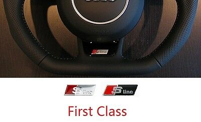2 X S Line Steering Wheel Badge Sticker Self Adhesive Fits Audi A3 A4 A6 New S49