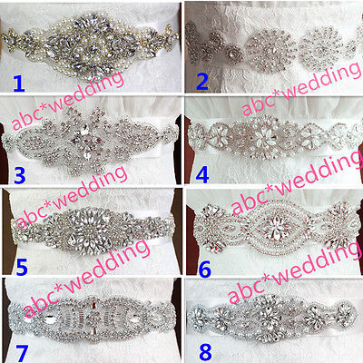 New Vintage Wedding Dress Sash Crystal Bridal Sash Rhinestone Wedding Belt Sash
