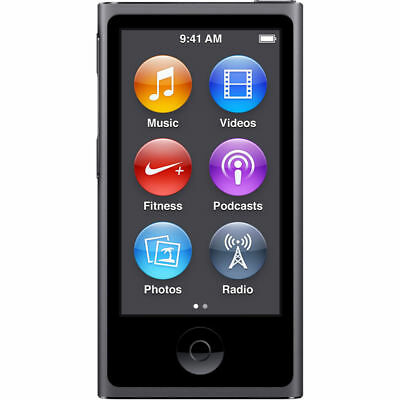 Brand New Apple iPod nano 7th Generation Space Gray (16GB) Warranty* Bundle