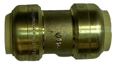 """3/4"""" Push Fit Fittings Quick Connect Coupling Sharkbite-Style"""
