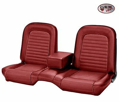 1964-1/2 -1965 Ford Mustang Red Front Bench Seat Upholstery Made in USA by TMI