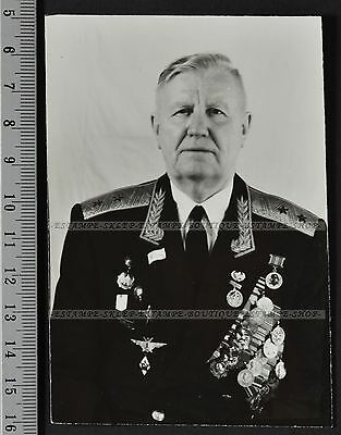 USSR Set of 8 photos Lieutenant General of aviation (971)