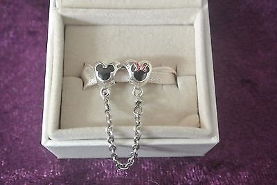 New Disney Disneyland Pandora Mickey and Minnie Mouse Safety Chain