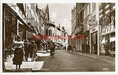 Real Photographic Postcard Of Queen Street, St. Helier, Jersey, Channel Islands