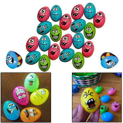 Kids 48 Pieces Crazy Funny Faces Easter Eggs Super Egg Hunt Easter Party Favors