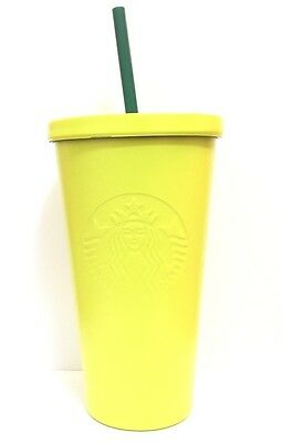Starbucks MATTE CITRON LIME GREEN Stainless Steel Cold Cup 16oz