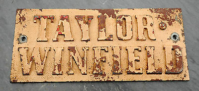 Taylor-Winfield Ohio Cast Metal Builder Plate Industrial Welding Sign Steampunk