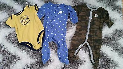 Carter's Set Of 3 Onesies 9 Months , Everything Better With Granpa Baby Boy