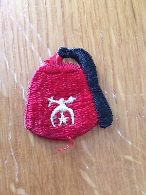 Vintage Shriner Fez Hat Patch