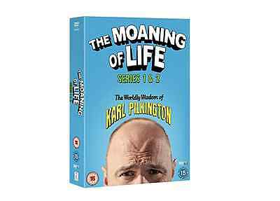 The Moaning Of Life Series 1-2 DVD New Sealed Free UK Post Karl Pilkington