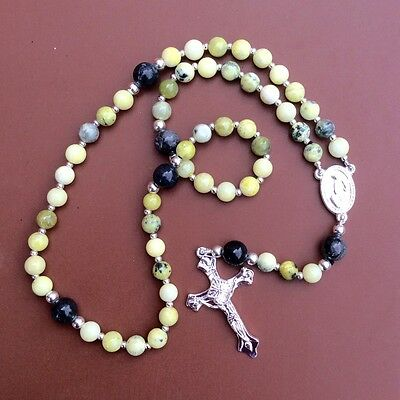 Light Connemara marble Irish rosary from Irish jewellery and gifts. Christain