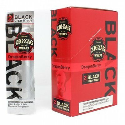 Zig Zag Cigar Wraps 2 Per Pack Dragon Berry Flavor Pack Of 25