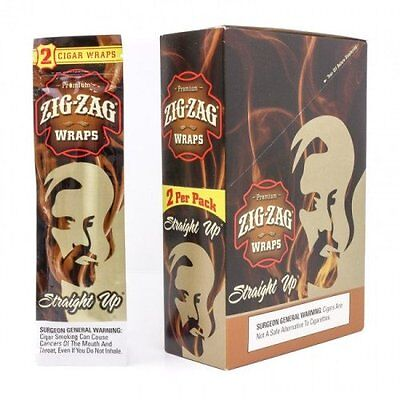 Zig Zag Wraps 2 Per Pack Straight Up Flavor Pack Of 25