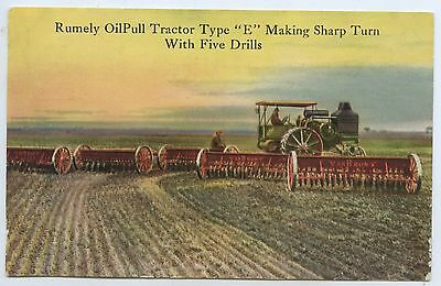 C.1910 Advert Postcard American Rumely Oilpull Tractor Type E With Drills Y38.