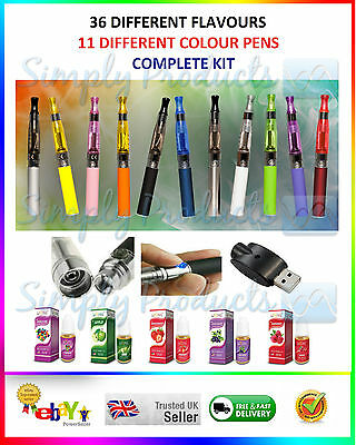 Electronic Shisha Rechargeable E Sheesha Pipe Vapor Pen & 3 Non Nicotine Liquid