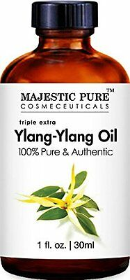 Majestic Pure Ylang Ylang Essential Oil, 100% Pure and Natural Therapeutic Grade