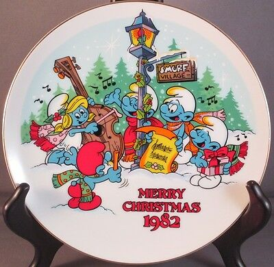 Vintage Smurf Carolers Christmas Collectible Peyo Wallace Berrie MINT LE First