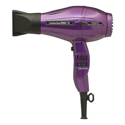 Parlux Twin Turbo 3900 Compact Ionic Ceramic Purple Professional Hair Dryer