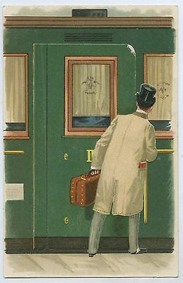 "C.1906 Lithographed Novelty Opening Flap Risque Postcard ""caught In The Act"" Y4."