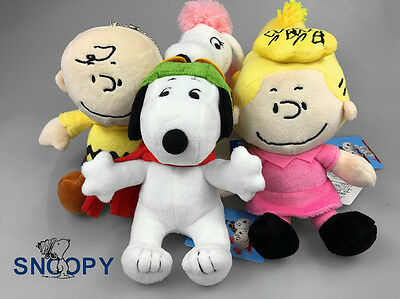 Peanuts Gang Snoopy Family Soft Plush Doll Movie Toys Kids Birthday Gift