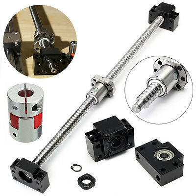 Ball Screw 1605-L500mm + Ballnut + Couplers + 2 Supporting Seat for CNC Machine