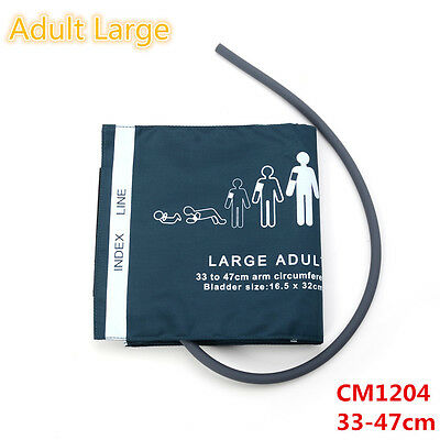 1pc Single-tube Blood Pressure Cuff Adult Large 33-47cm Patient Monitor CM1204