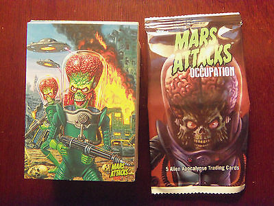 2016 Kickstarter MARS ATTACKS Occupation Compllete 81 Card Base Set Nice Set!!!