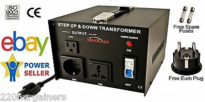 Simran AC-1500W 110V 220V International Power Source Step Up Down Transformer