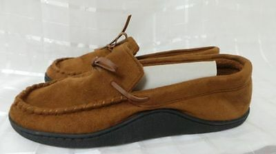 New!!! Mens Isotoner Microsuede 40g Thinsulate Hoodback Moccasin Slippers H35