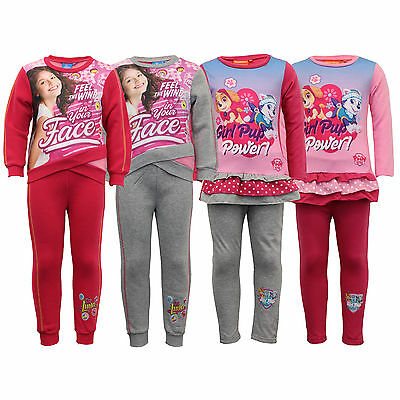 girls paw patrol tracksuit Nickelodeon Disney sweatshirt bottoms soy luna pyjama