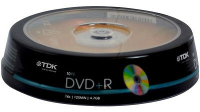 200 pack TDK Gold Series DVD+R 4.7Gb 16X Blank Recordable Discs Spindle