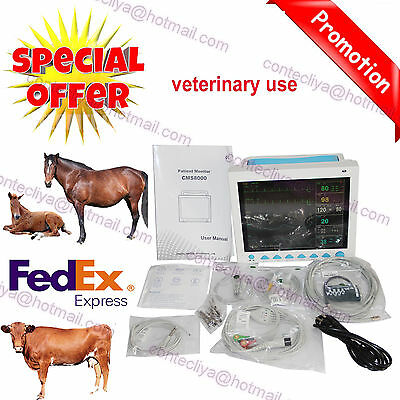 FDA certified Veterinary Vital Signs Patient Monitor,6 parameters CMS8000 VET